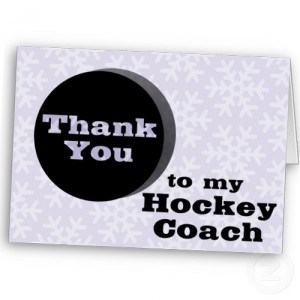 Thank your coach!