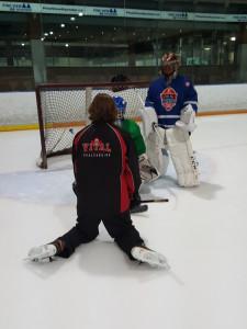 Goalie Instruction on ice training