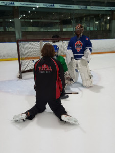 Goalie Instruction on ice training