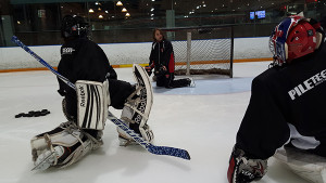 Launy Schwartz Training Goaltenders at Sports Village in Vaughan