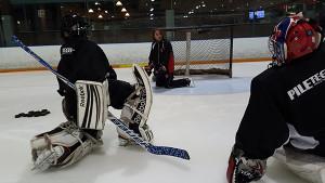 Launy Schwartz Training Goaltenders at Sports Village in Vaughan